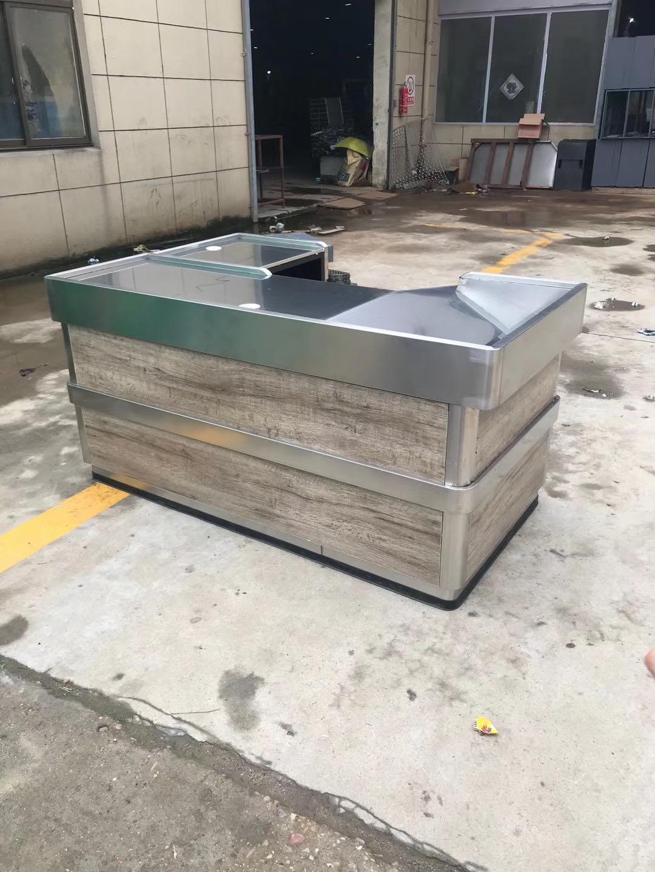 不锈钢木质收银台
